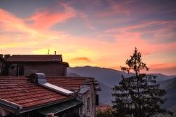 Blick gen Süden bei Sonnenaufgang